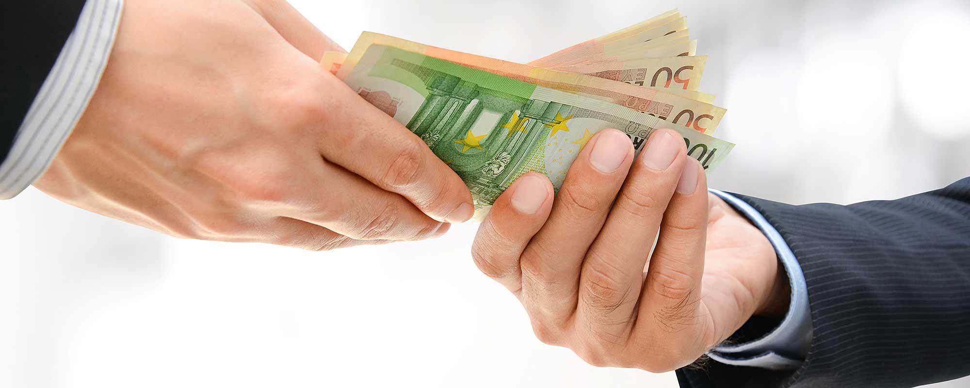Vorauszahlungsanzeige